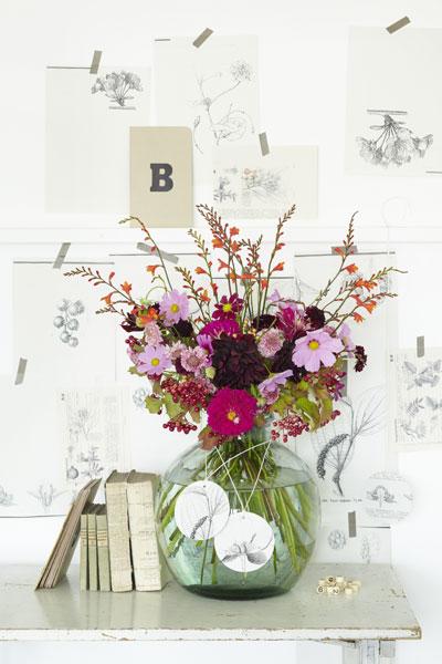 Stylen met botanische prenten