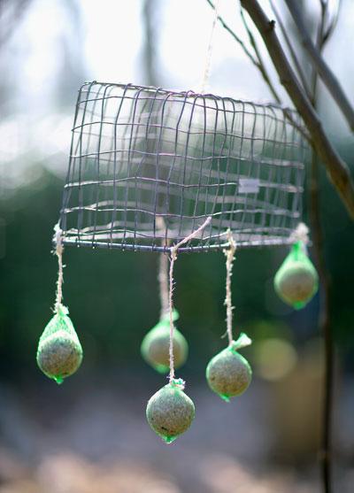Vetbollen mobile voor vogels