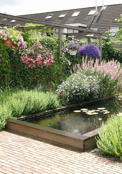 Veel groen weinig onderhoud for Vijver voor kleine tuin