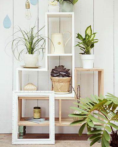 tuintje in huis: kamerplanten in stapelkasten