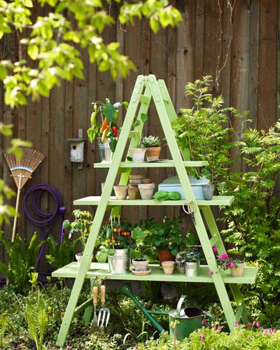 Zelf maken: ladder wordt plantentrap