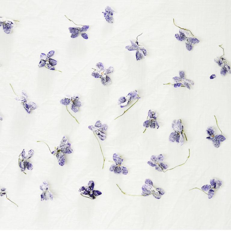 DIY: Strooien met viooltjes