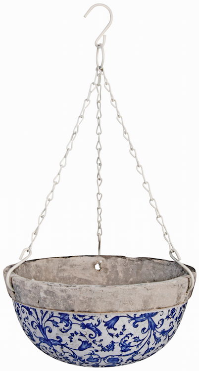 Hanging basket van keramiek