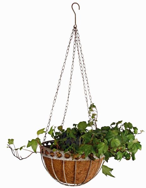 Hanging basket metaal kokos