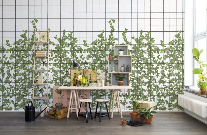 botanische muurprints