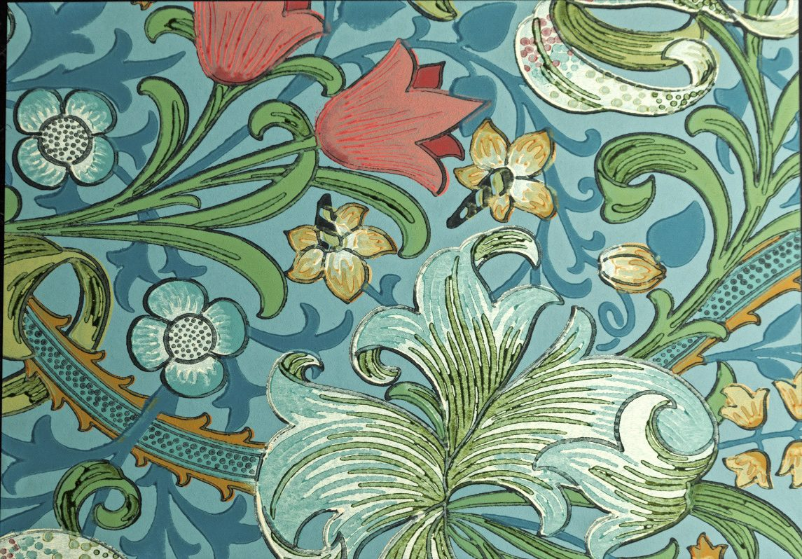 bloemenpatroon william morris