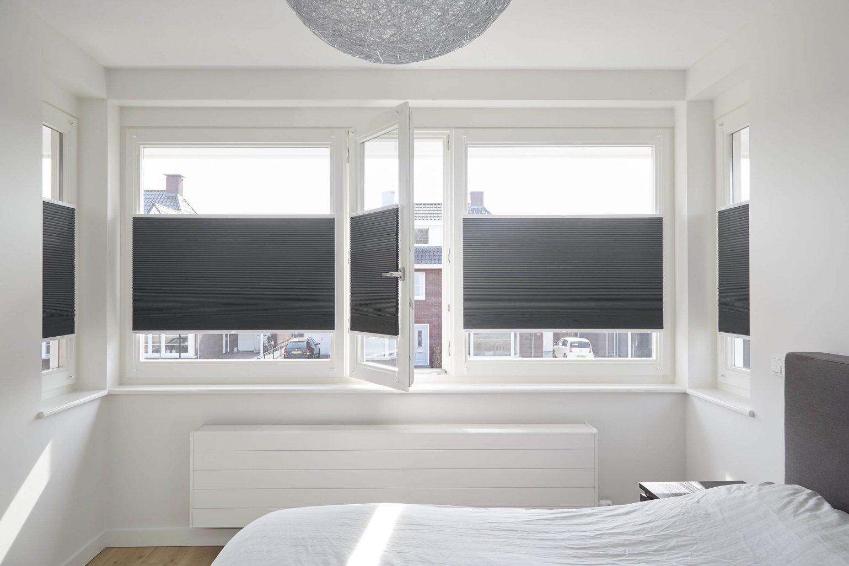 Plisségordijnen slaapkamer
