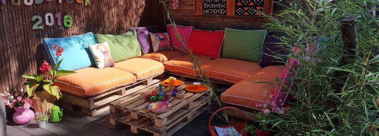 DIY: je eigen loungebank van houten pallets